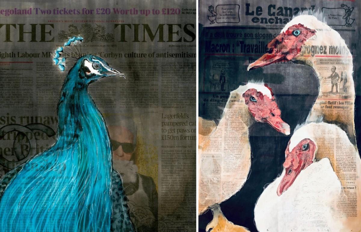 A sinistra: RIP Karl Lagerfeld | A destra: Le Canard © Lisa Törner