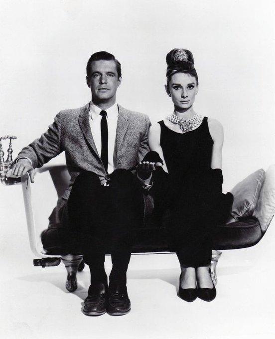 Audrey Hepburn & George Peppard in Breakfast at Tiffany's, 1961