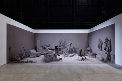 Chen Zhen, Purification Room, 2000, Installation view, Pirelli HangarBicocca, Milan, 2020 © ADAGP, Paris, Courtesy Pirelli HangarBicocca, Milan, and GALLERIA CONTINUA, Photo: Agostino Osio
