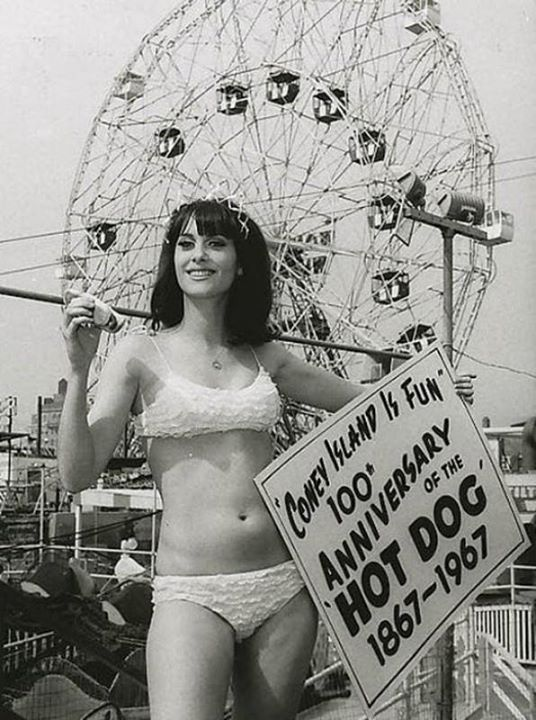 Coney Island Hot Dog queen. 1967