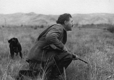 Ernest Hemingway a caccia di anatre in Idaho, 1941