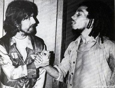 George Harrison ed Bob Marley, 1975