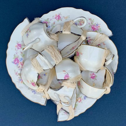 """Broken cups and saucers"" by Glen Taylor"