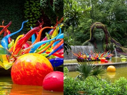 Dale Chihuly, Fiori Boat, 2016, Atlanta Botanical Garden