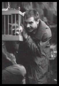 Harrison Ford e un procione sul set di Blade Runner