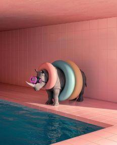 Swimming pool by Karl Larsson