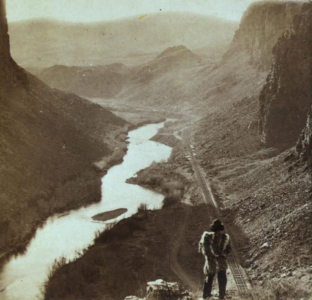 Lo sguardo di un nativo americano sulla ferrovia transcontinentale appena completata nel 1868