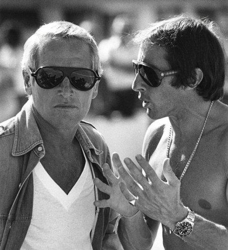 Paul Newman & Jackie Stewart. 1969
