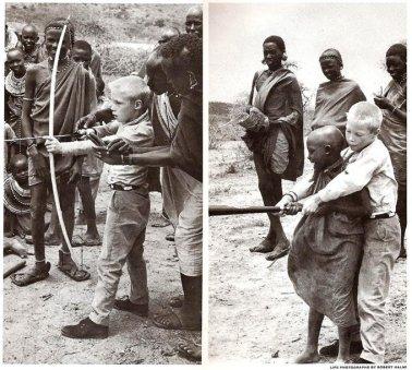 Un bambino di nove anni di New York di nome Kevin Gorman e Dionni, il figlio del capo della tribù Masai del Kenya, fanno uno scambio,1962