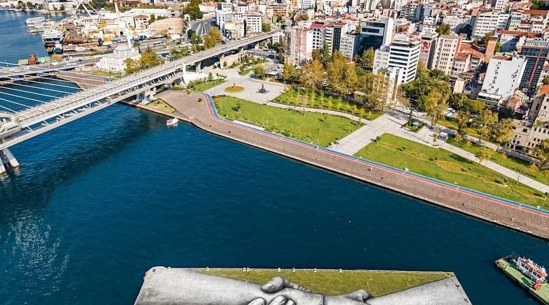 Saype @ Istanbul, Turkey