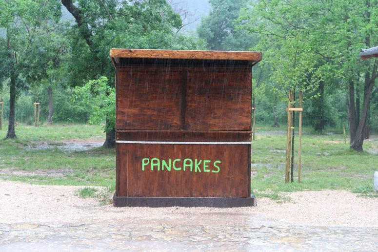 Cathy Tideswell, Pancakes Stand, Krka National park, Croatia, c. 1985. Photo courtesy of Accidentally Wes Anderson and @yugen_yoga