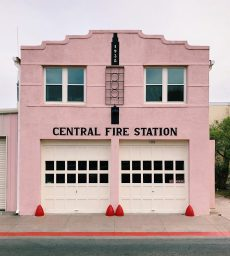 Emily Prestridge, Central Fire Station, Marfa, Texas, c. 1938. Photo courtesy of Accidentally Wes Anderson and @emprestridge