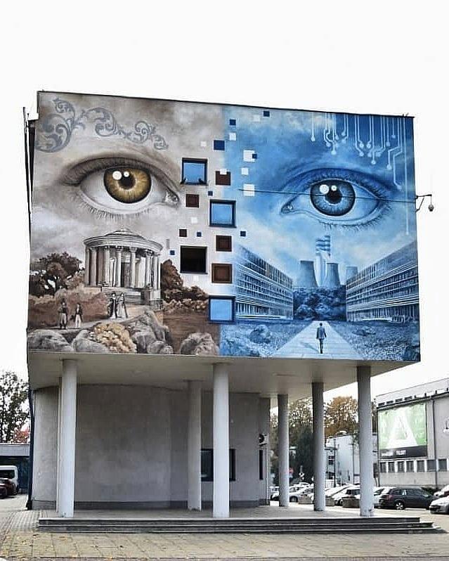 Streetart – Dawid Celek @ Puławy, Poland