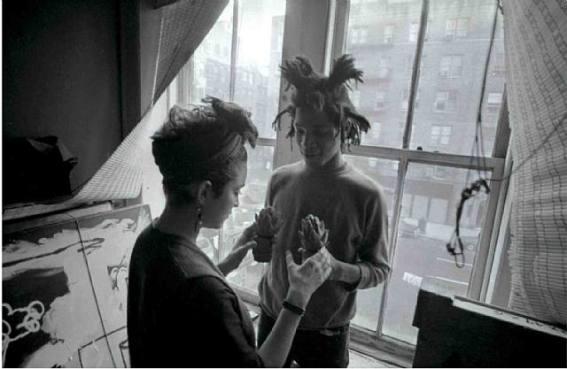 Jean-Michel Basquiat e Madonna, NYC, 1982