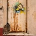 Alice Pasquini @ Rome, Italy. Photo by Roberto Morgi