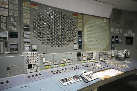 Control Room 3, Chernobyl Nuclear Power Plant. This room and the associated Reactor 3 remained in use until 1995 when they were put out of service following an agreement with the EU. Now, along with Reactors 1 and 2, it is undergoing a decommissioning process. Chernobyl Exclusion Zone by Darmon Richter