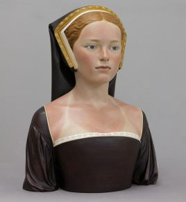 "Gerard Mas. ""Lady of lloret,"" polychrome resin"