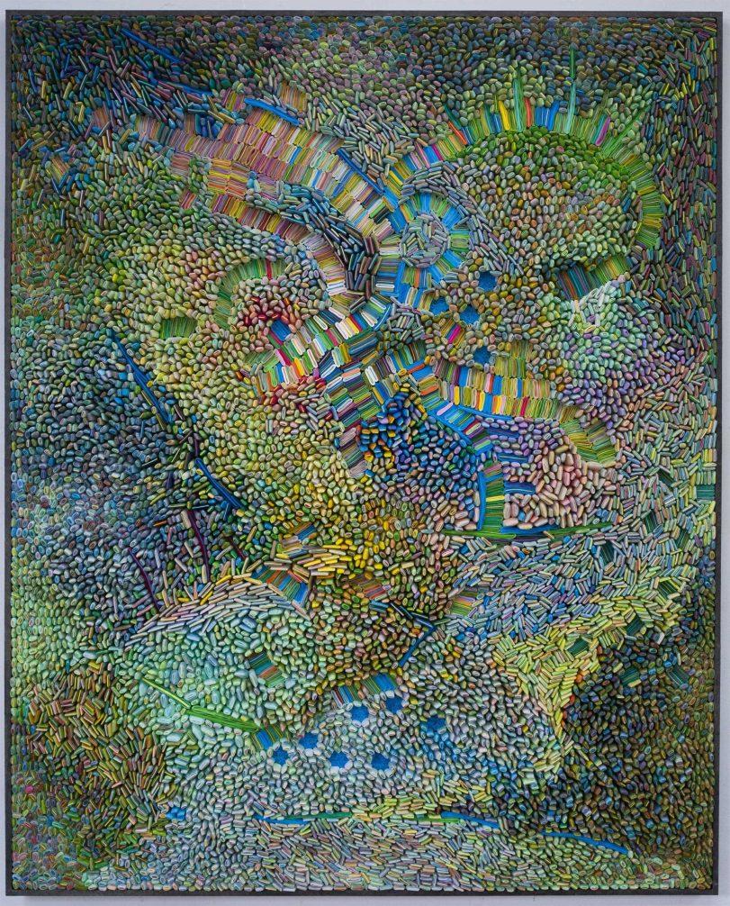 "Ilhwa Kim. ""Space Sample 36"" (2020), 164 x 132 x 15 cm"