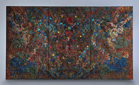 "Ilhwa Kim. ""Space Station Sample"" (2016), 192 x 334 x 12 cm"