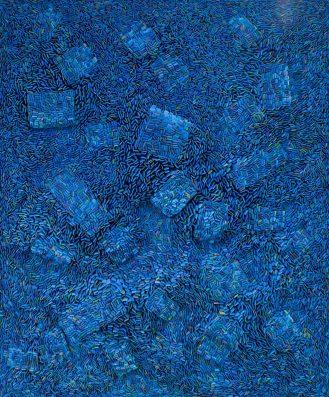 """Ilhwa Kim. """"Seed Universe 108"""" (2019), 184 x 152 x 15 cm"""