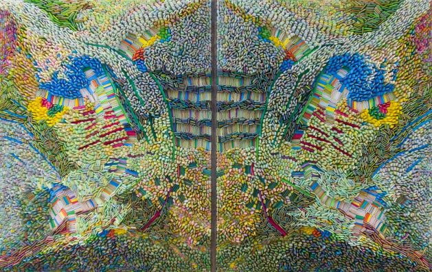 "Ilhwa Kim. ""Space Sample 30"" (2019), 119 x 186 x 15 cm"