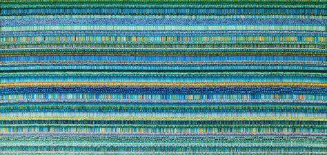 """Ilhwa Kim. """"Seed School 3"""" (2019), 114 x 234 x 13 cm"""