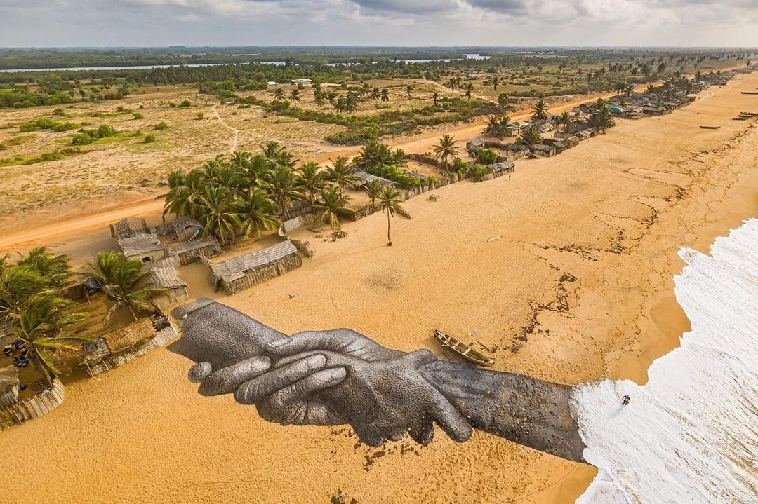 Saype @ Ouidah, Benin