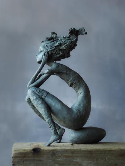 "Valérie Hadida. ""Seaside"", bronzo, 42 x 23 x 15 centimetri"