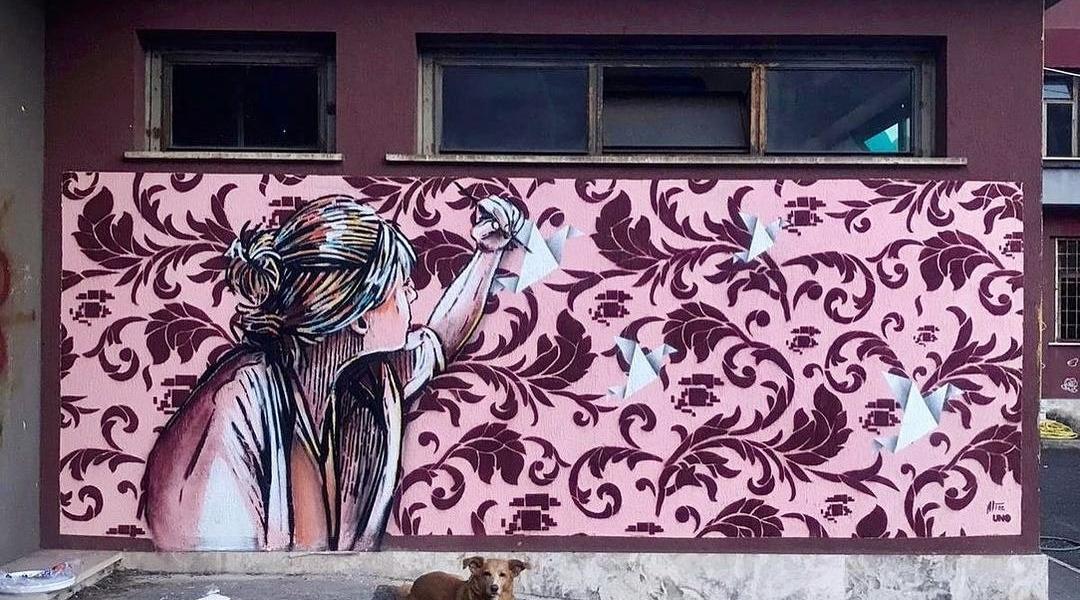 Alice Pasquini + UNO @ Rome, Italy