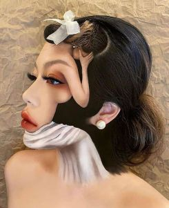 Surreal makeup art by Mimi Choi