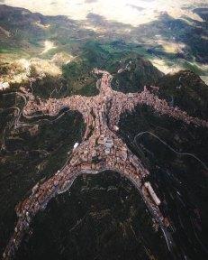 Vista aerea della provincia di Enna in Sicilia, Italia Fotografia di autore sconosciuto (o non leggibile)
