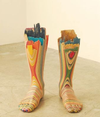 Screaming My Foot (2009) by Haroshi