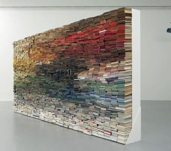 Book sculpture by Anouk Kruithof
