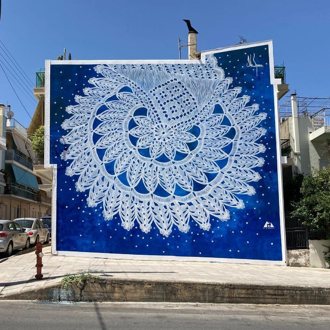 Streetart – NeSpoon @ Patras, Greece