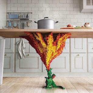 Dragon LEGO table by Ogilvy