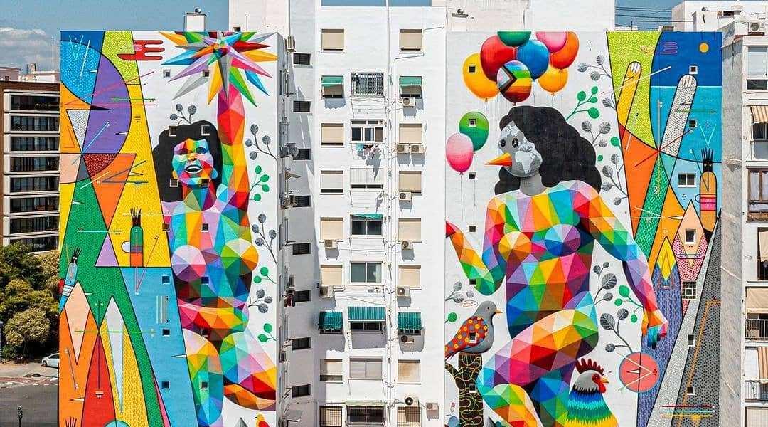 Okudart + Sixe Paredes @ Valencia, Spain