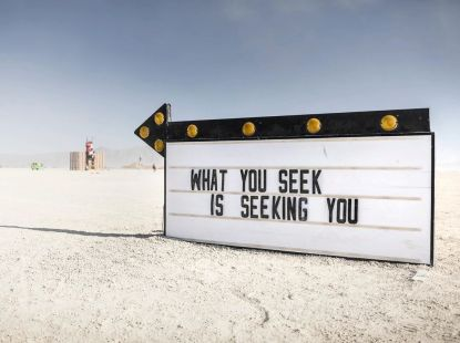 Public Displays of Awareness (2019) by Olivia Steel @ BurningMan (Photo by Scott London)