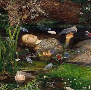 "Ophelia"" a modern digital remake by Raquel Aparicio (original painting by John Everett Millais 1851-1852)"