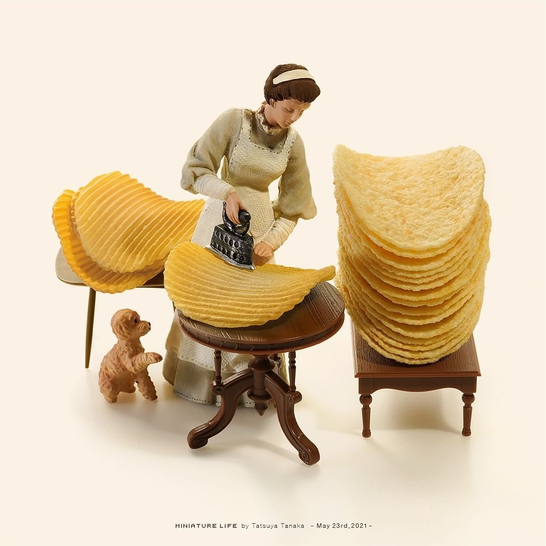 Miniature by Japanese artist Tatsuya Tanaka