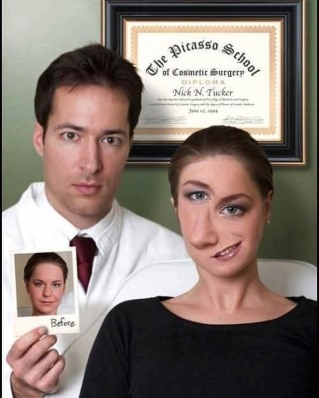 The Picasso School of Cosmetic Surgery (Author unknown)
