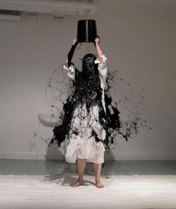 Performance art by Xiao Lu