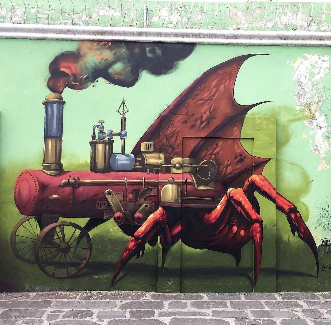 Streetart – Alber Ticci @ Puebla, Mexico