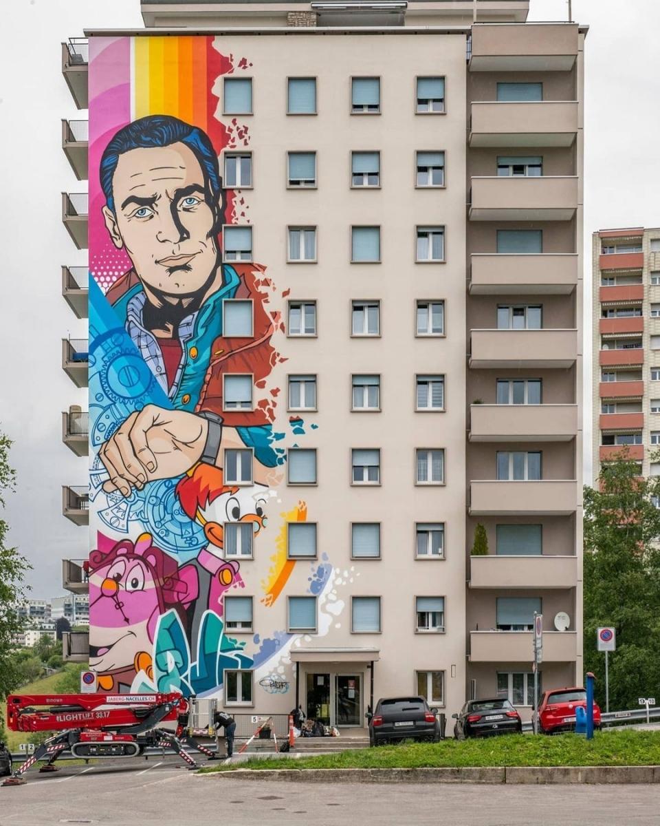 Streetart – Bustart @ Le Locle, Switzerland