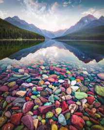 Natural colorful rocks in Glacier National Park (Montana) - Photo by David Rule