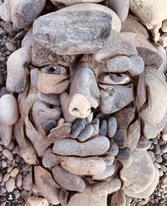 Stone art by Ilan Adar