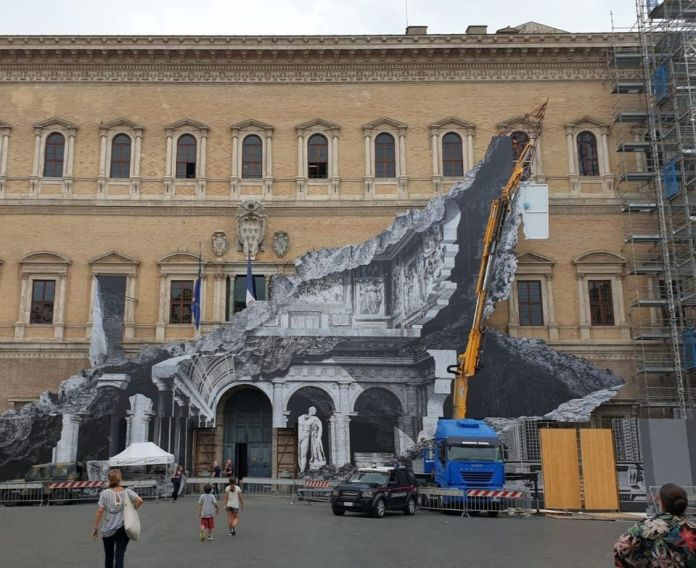 JR @ Rome, Italy. Photo by Carlo Caloro