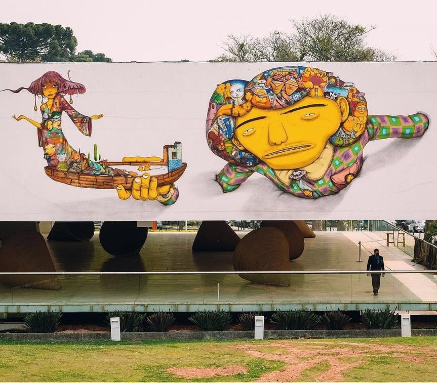 Os Gêmeos @ Curitiba, Brazil