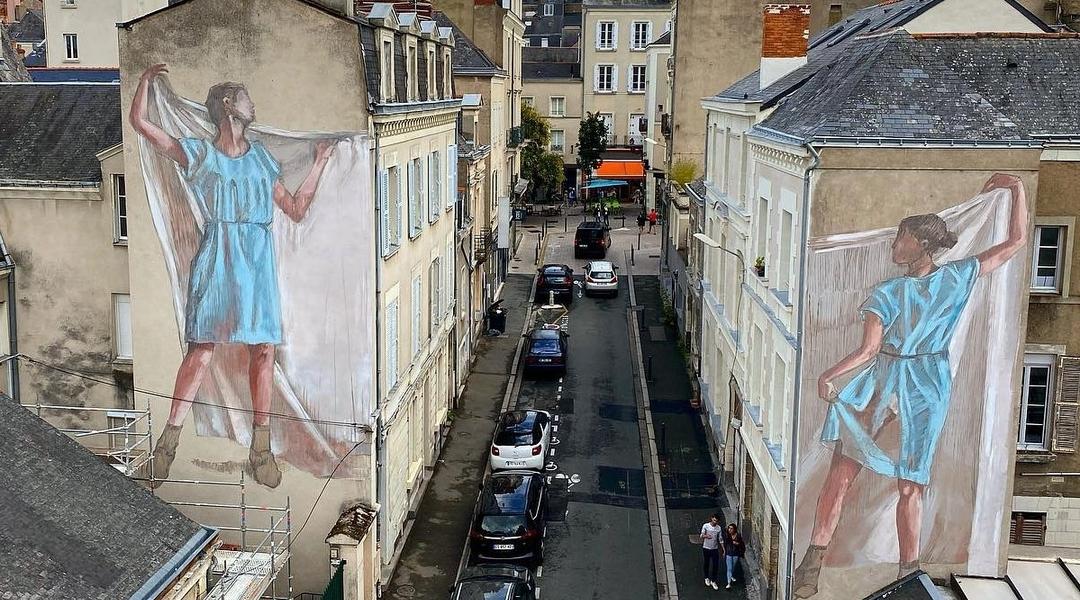 Faith47 + Helen Bur @ Angers, France