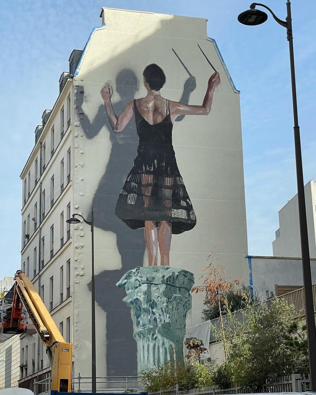 Hyuro by Axel Void + Escif @ Paris, France