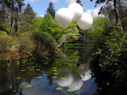 "Olivier Grossetête. ""Monkey Bridge,"" Japanese Garden of Tattonpark Biennale"